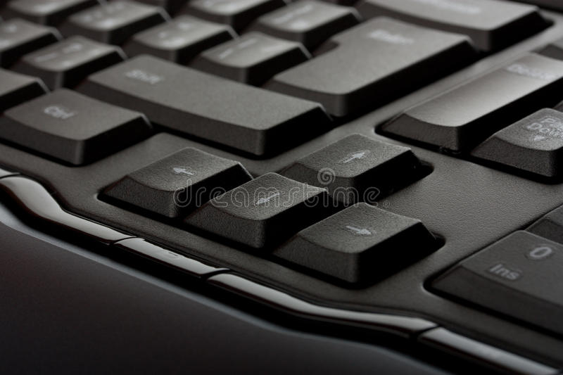 Arrow keys. On keyboard closeup royalty free stock photography