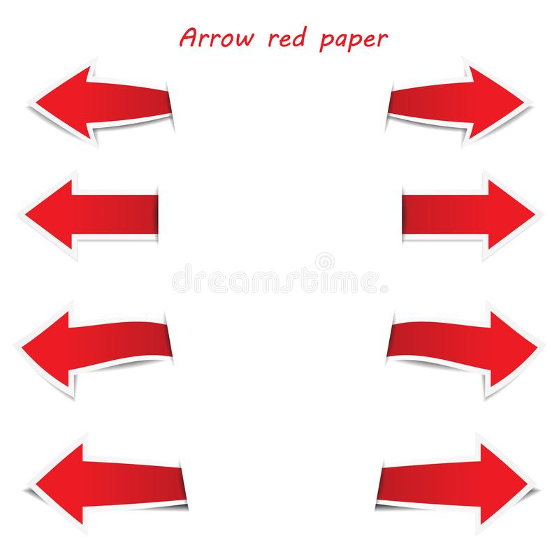 Arrow label paper with text input box royalty free illustration