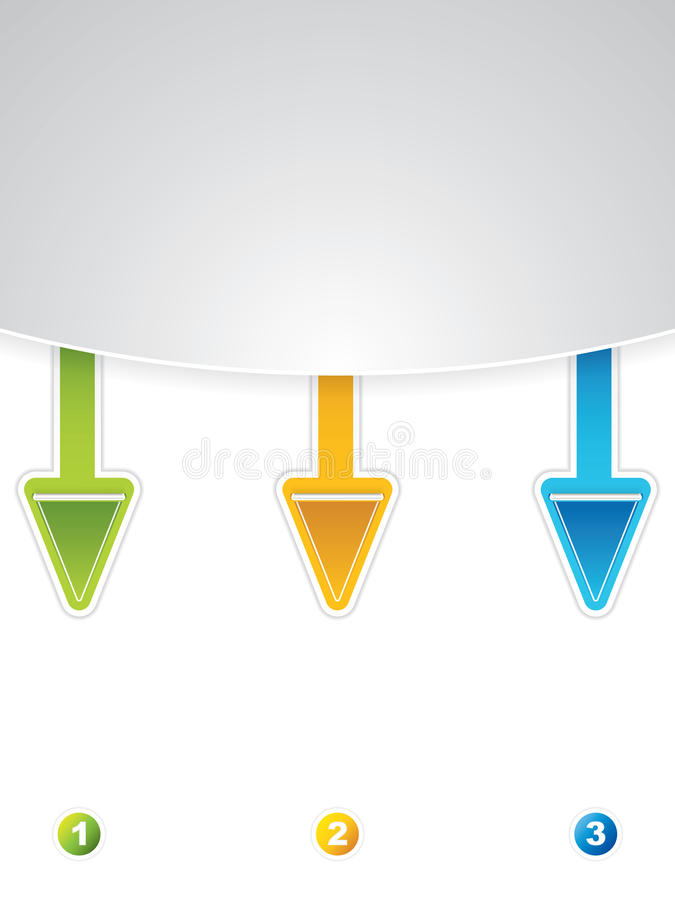 Arrow Labels Royalty Free Stock Images