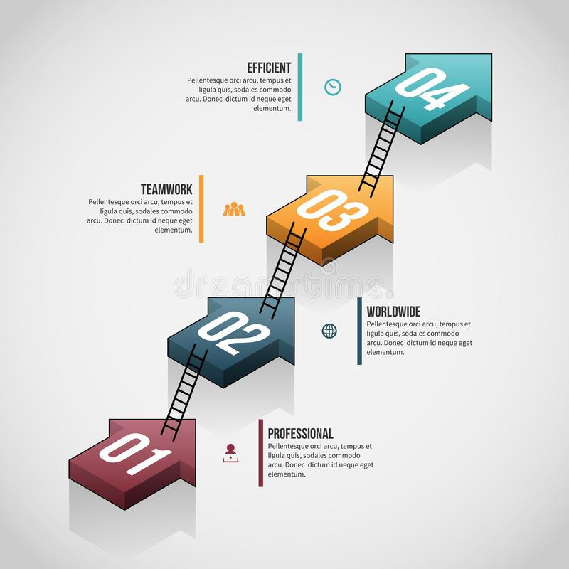 Free Arrow Ladder Stack Infographic Royalty Free Stock Photo - 110948865