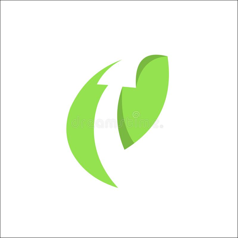 Arrow Leaf, finance, arrow, nature, symbol. Vector logo template royalty free illustration
