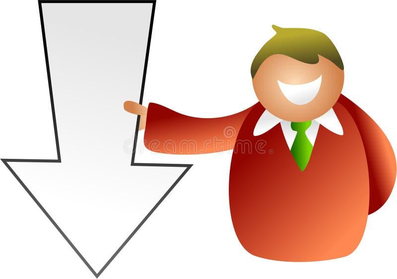 Download Arrow man stock illustration. Image of pointing, economic - 1056957