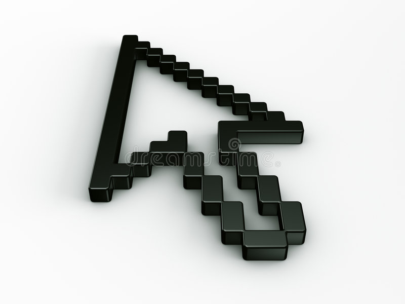 Download Arrow Mouse Cursor In 3d Stock Photo - Image: 5445280