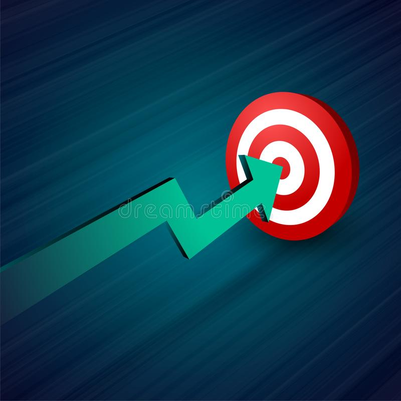 Arrow moving towards target business concept background vector illustration