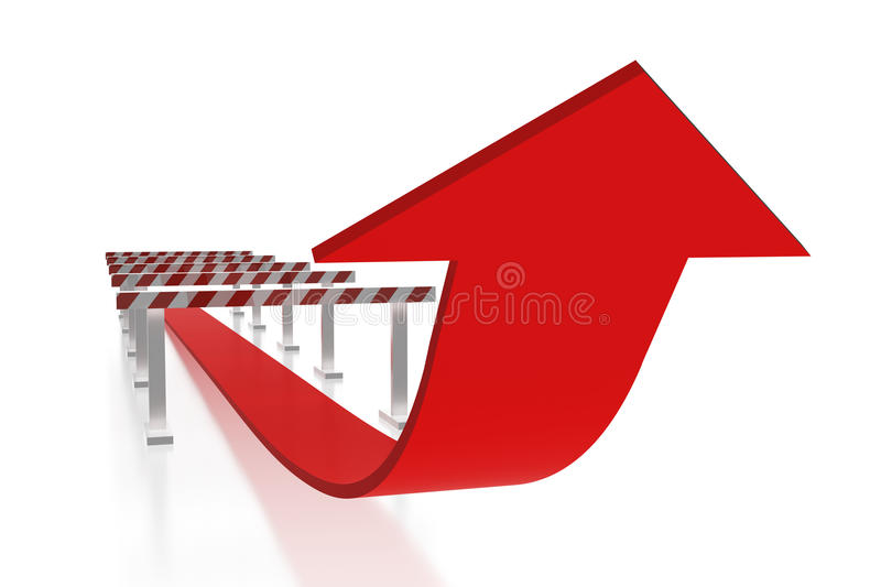 Download Arrow and obstacles stock illustration. Illustration of business - 14000391