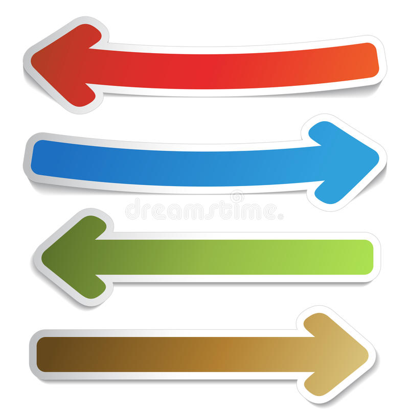 Arrow pointers vector illustration