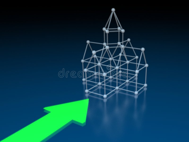 Download Arrow pointing to church stock illustration. Illustration of graphical - 3653221