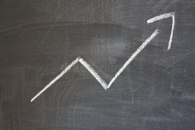 Arrow pointing upward stock images