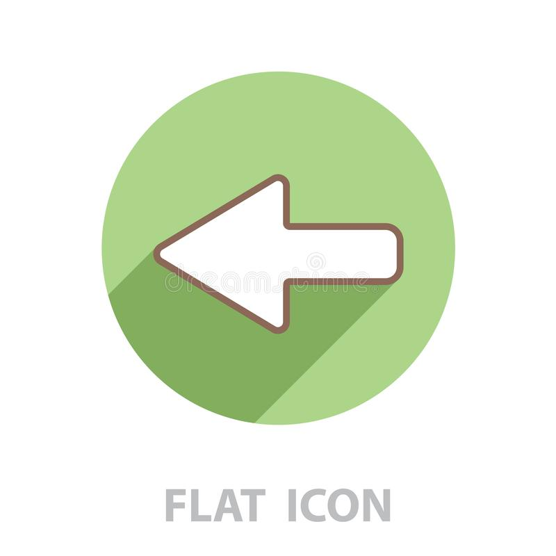 Arrow points to the left line. Icon vector illustration