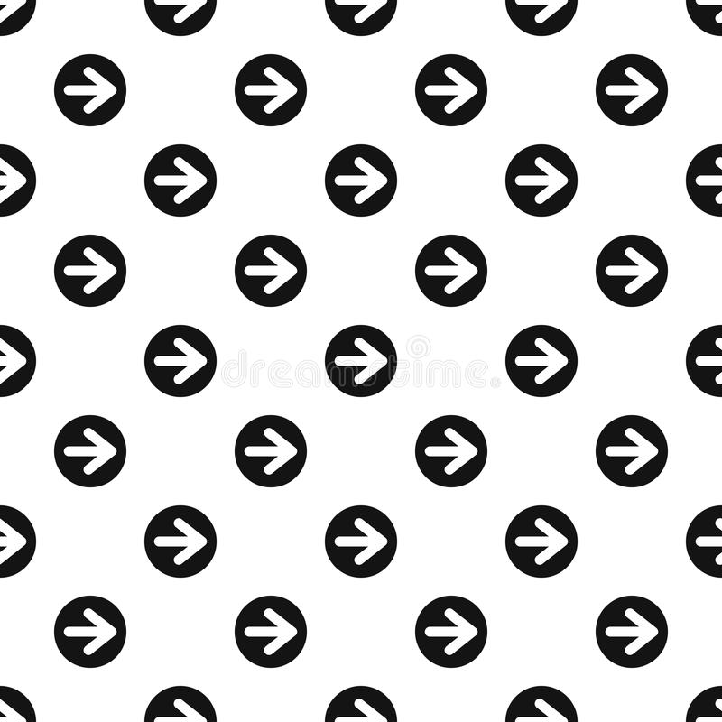 Arrow right circle button pattern, simple style. Arrow right circle button pattern. Simple illustration of arrow right circle button vector pattern for web vector illustration
