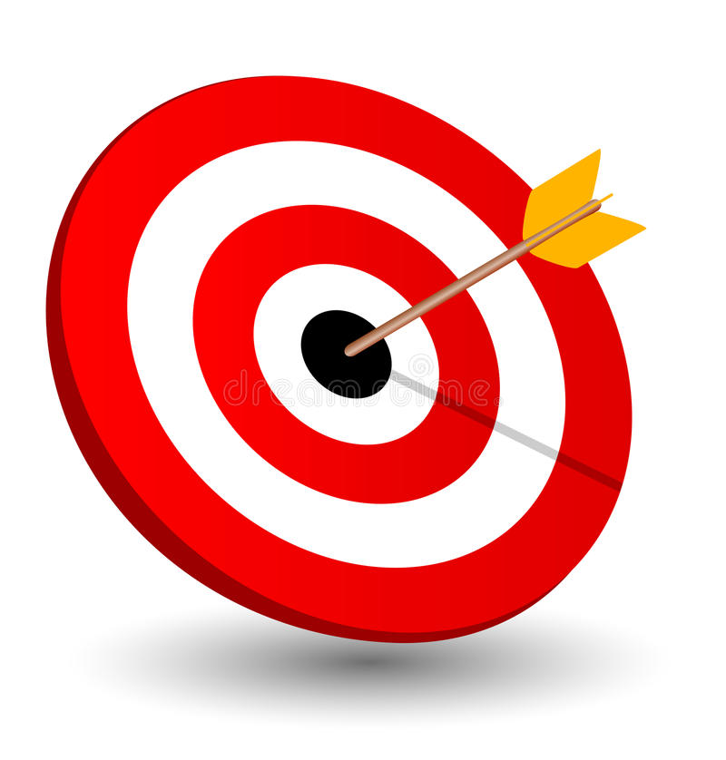 Arrow Right On Target Symbol Of Winning Stock Illustration