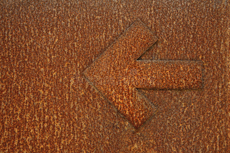 Arrow in rust royalty free stock images
