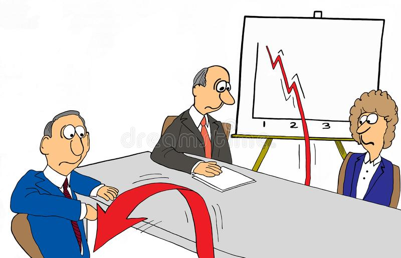 Profit arrow jumps off chart royalty free illustration