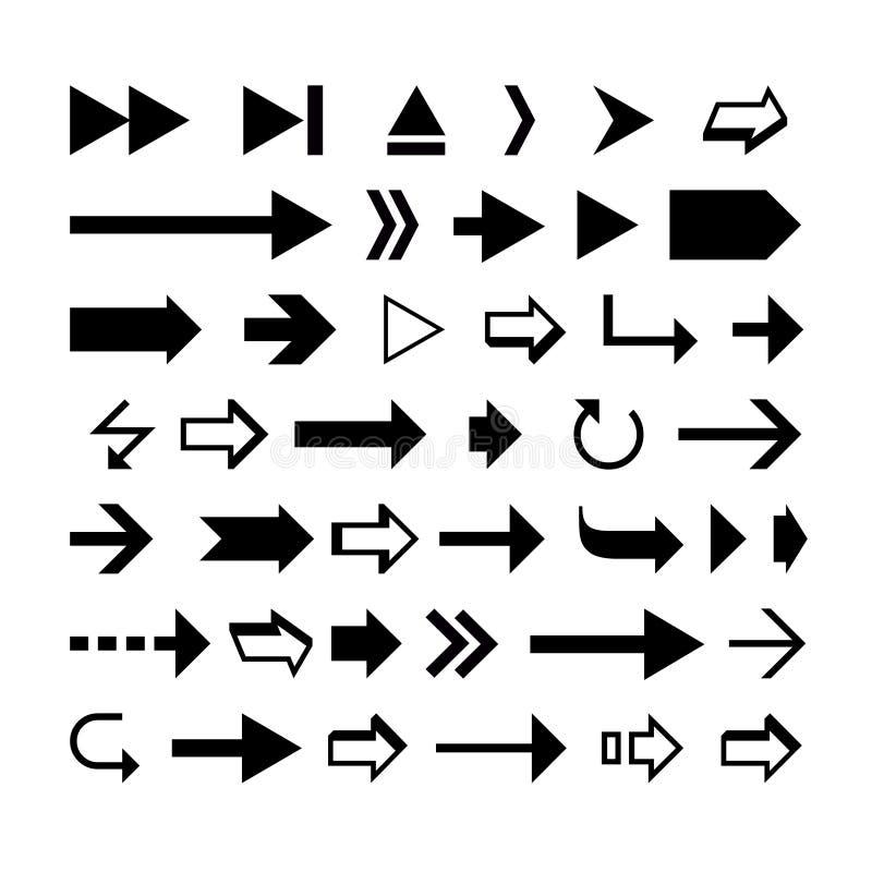 Arrow shapes stock illustration