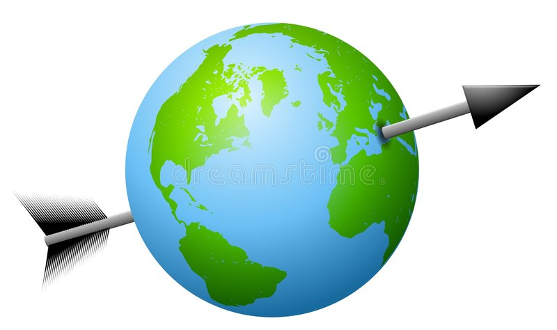 Download Arrow Shot Through The Earth Stock Illustration - Image: 4737854