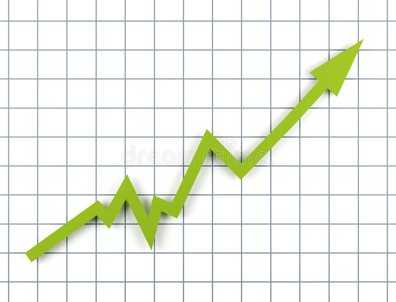 Download Arrow showing increase. stock illustration. Image of profile - 10615815