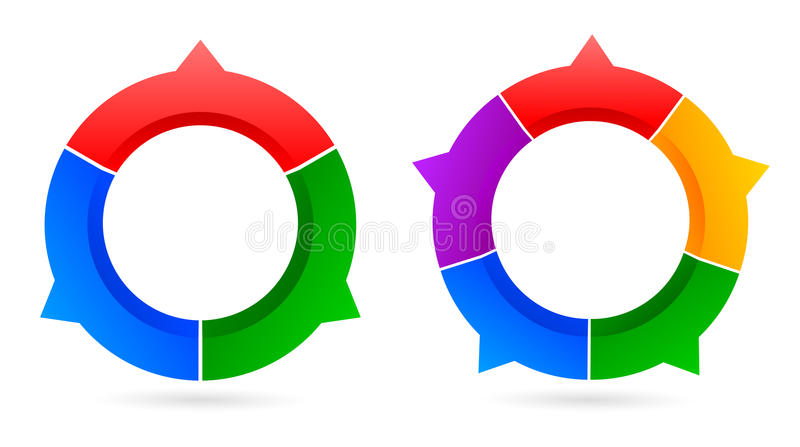 Arrow sign. Two arrow sign of three and five vector illustration