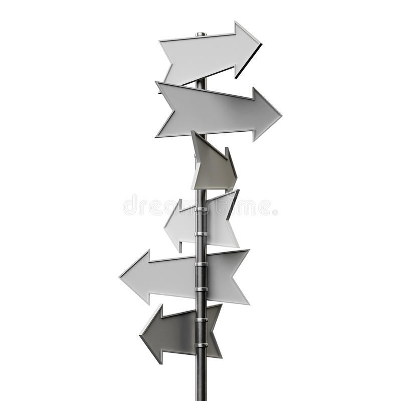 Download Arrow sign stock illustration. Illustration of direction - 36076187