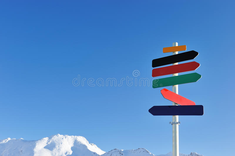 Download Arrow sign in mountains stock photo. Image of scene, mountains - 25512934