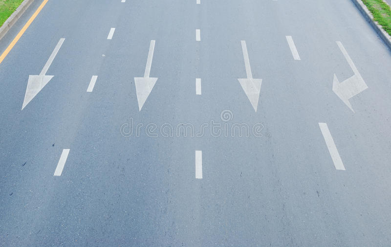 Arrow signs. On the way stock photography