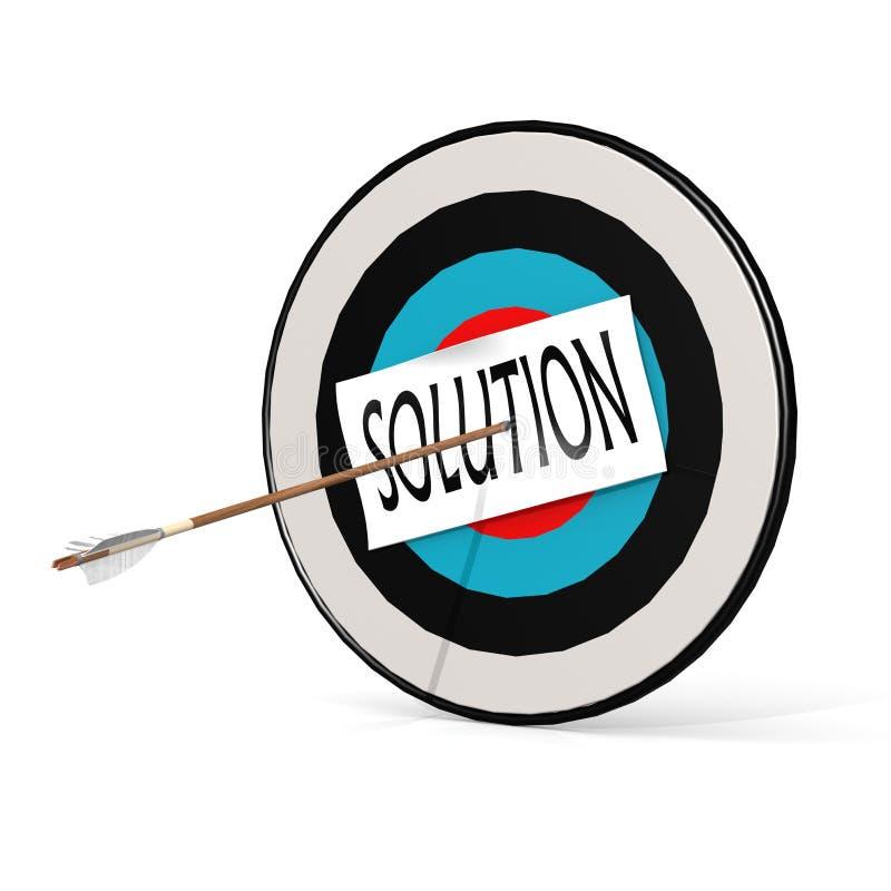 Arrow, solution and board vector illustration