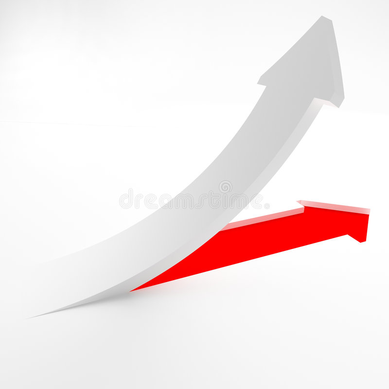 Download Arrow of success stock illustration. Image of drawing - 6733373