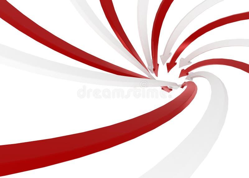 Arrow Swirl stock illustration