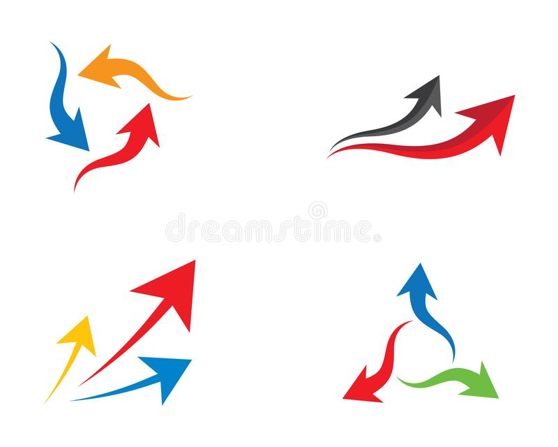 Arrow symbol vector icon illustration royalty free illustration