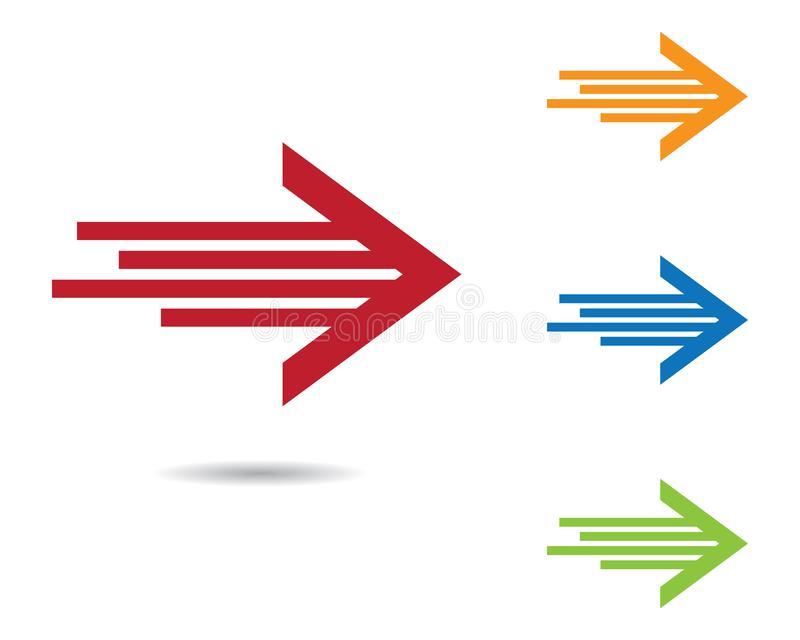 Arrow symbol vector icon illustration stock illustration