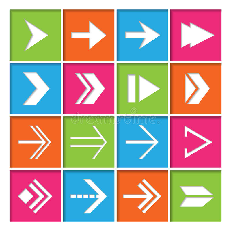 Download Arrow Symbols Icons Set stock vector. Illustration of button - 39503324
