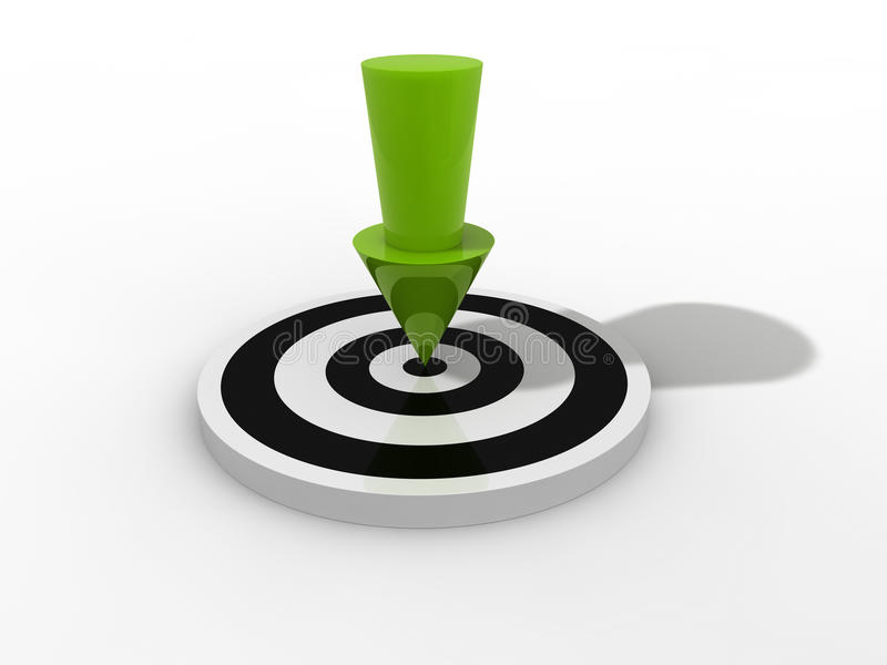 Download Arrow In Target Royalty Free Stock Photo - Image: 19693565