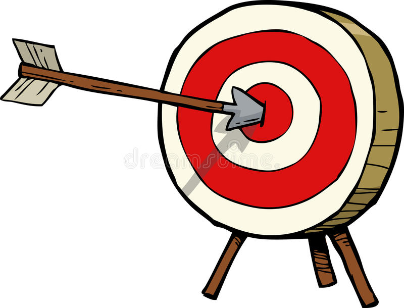 arrow and target stock vector illustration of background