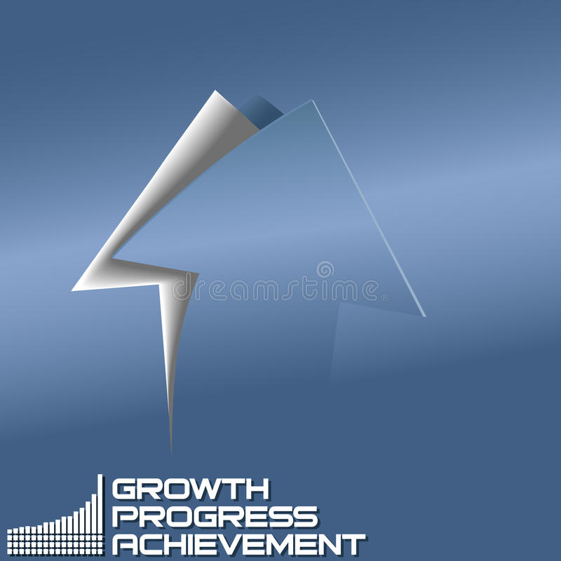 Download Arrow Up Progress Cut Out Curl Page Stock Vector - Illustration of advancement, point: 28927014
