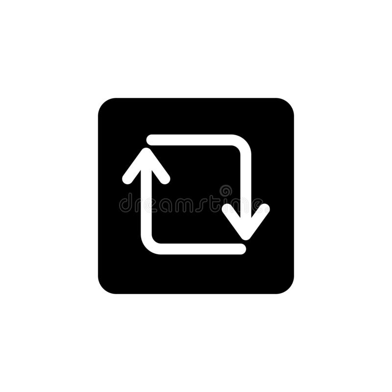 arrow upgrade or refreshment icon. Simple glyph, flat vector of Web icons for UI and UX, website or mobile application vector illustration