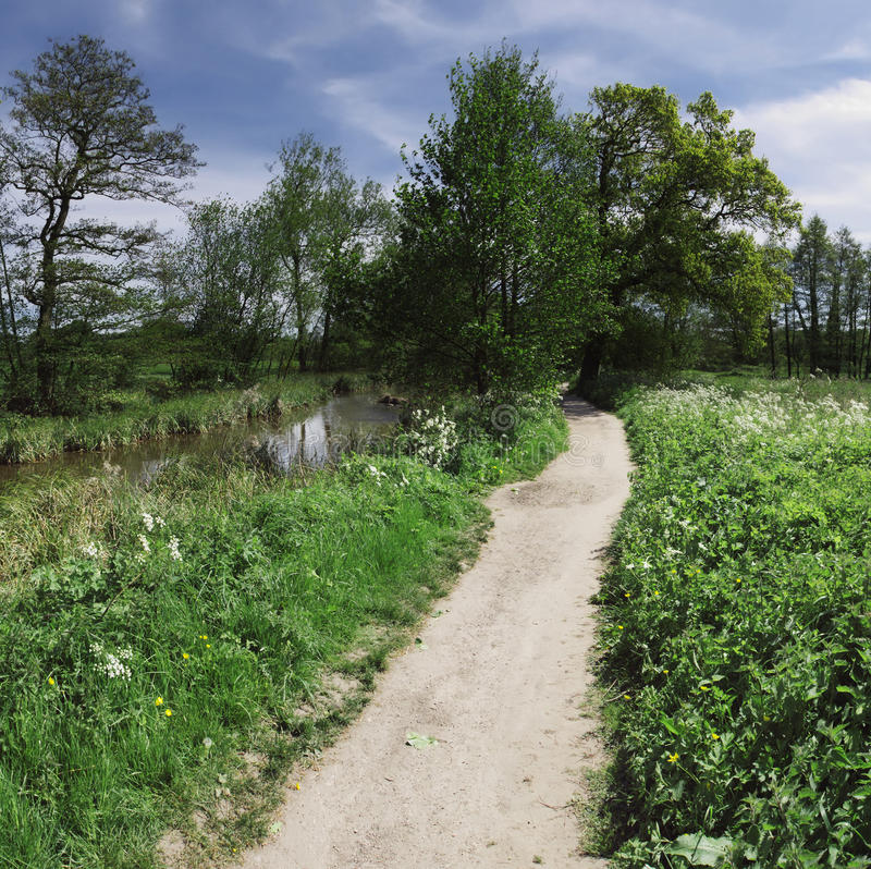 Arrow valley. Valley of the river arrow redditch stock image
