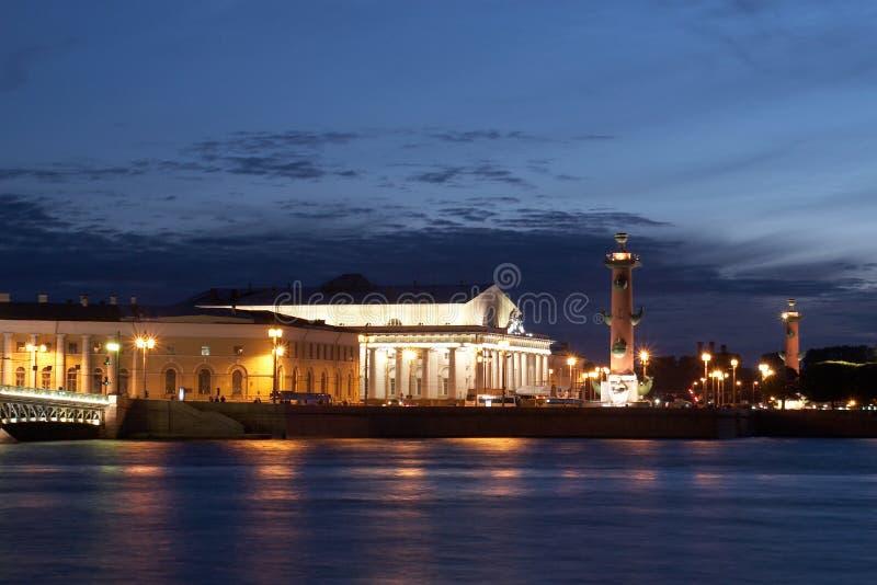 Arrow of Vasilevsky island stock images