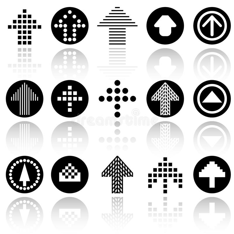 Arrow vector icons set . EPS10. Arrow icons set .EPS file available vector illustration