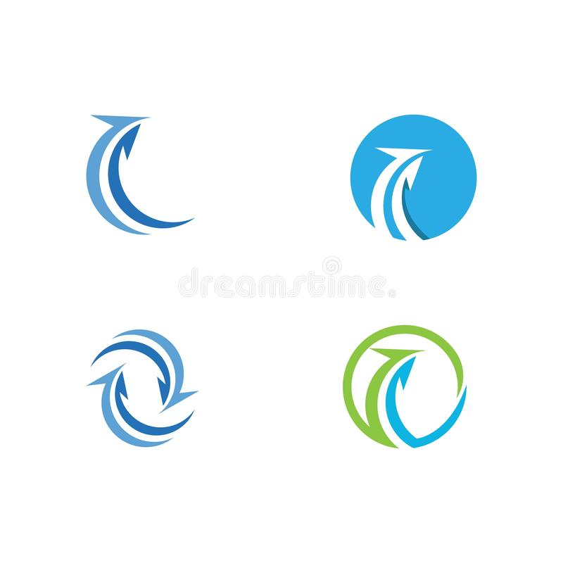 Arrow vector illustration icon. Logo Template design plus faster accurate achieved advertising arrows best business center chance choice competitive royalty free illustration