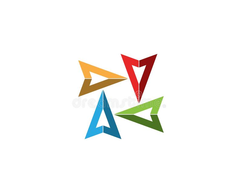 Arrow vector illustration icon. Logo Template design, plus, faster, accurate, achieved, advertising, arrows, best, business, center, chance, choice, competitive royalty free illustration