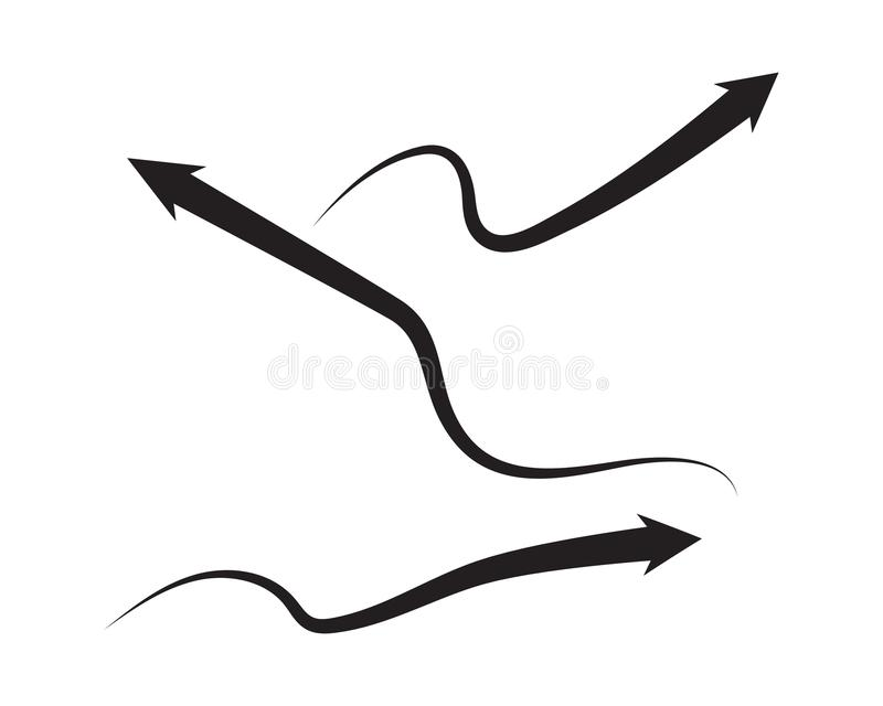 Arrow vector illustration icon stock illustration