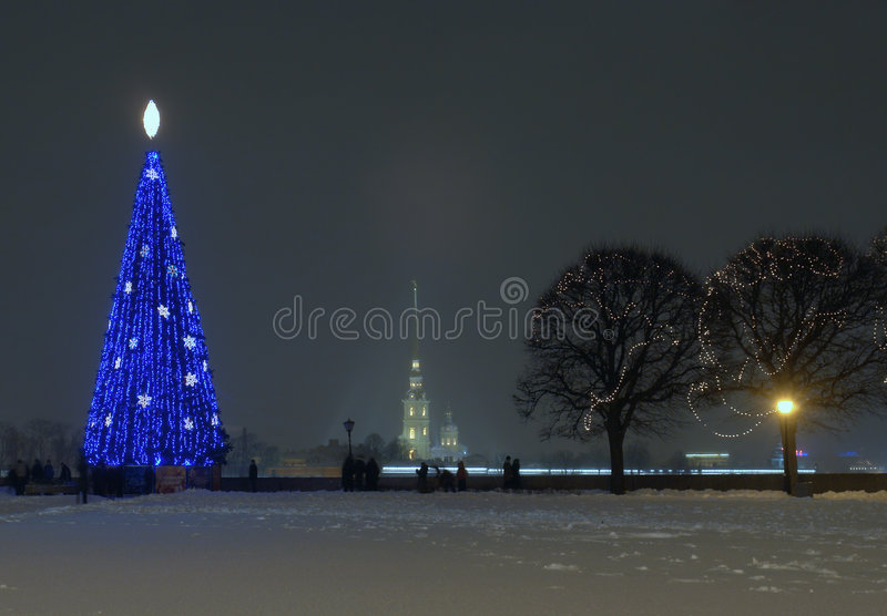 Arrow of wasilevsky islands in new year stock photos