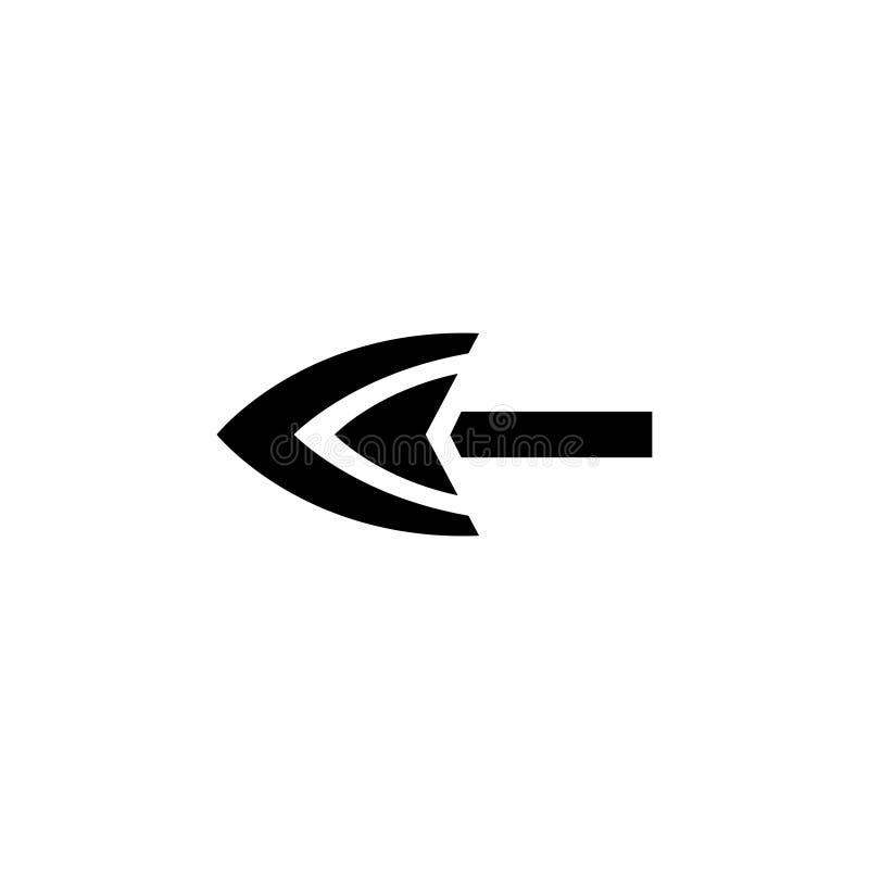 Arrowhead επίπεδο διανυσματικό εικονίδιο απεικόνιση αποθεμάτων