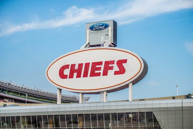 Arrowhead στάδιο, σπίτι των Kansas City Chiefs, πόλη του Κάνσας, στοκ εικόνες
