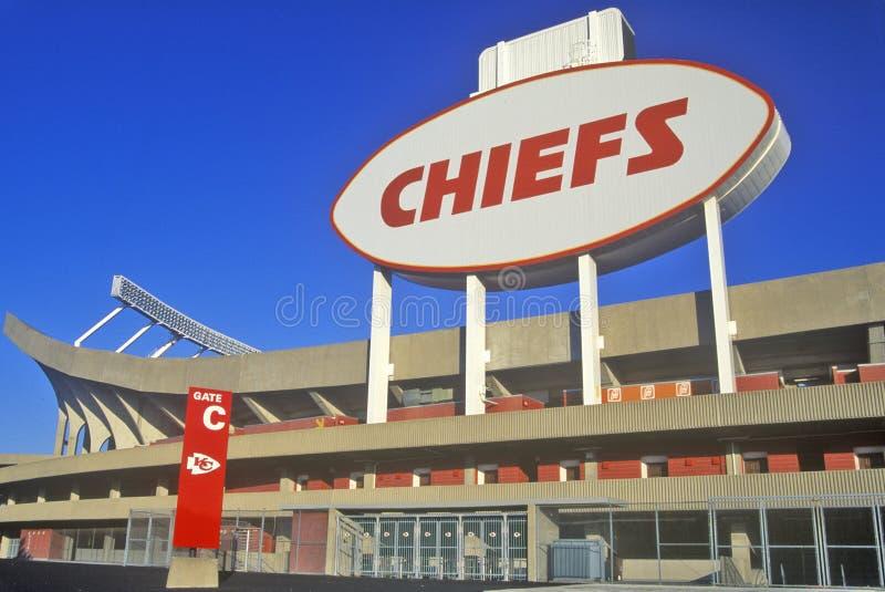 Arrowhead στάδιο, σπίτι των Kansas City Chiefs, πόλη του Κάνσας, MO στοκ φωτογραφίες