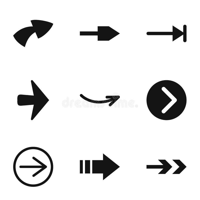 arrowhead icons set simple style stock vector illustration of rh dreamstime com arrowhead vector logo arrowhead vector art