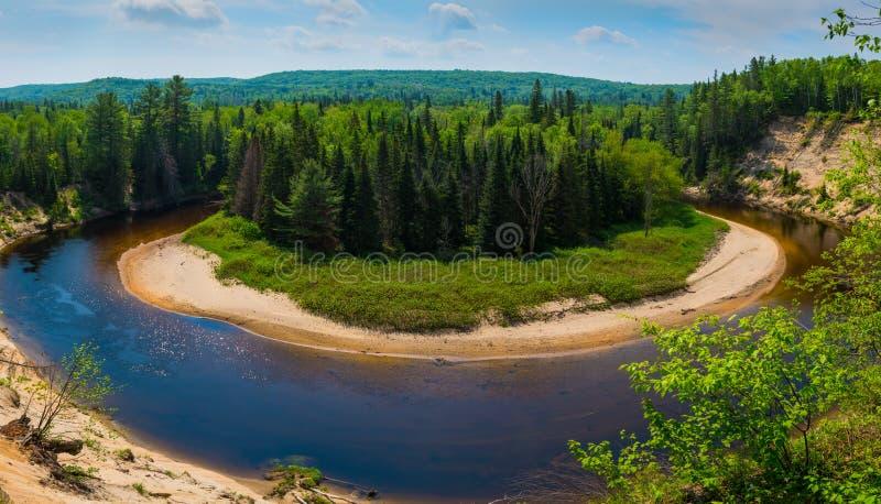 Arrowhead provincial park, Muskoka, Ontario. Spectacular view from above angle of Arrowhead park stock photography