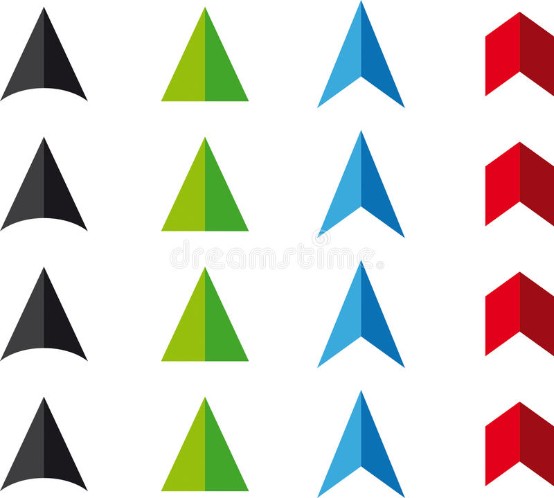 Download Arrowheads stock vector. Illustration of heads, isolated - 15719211