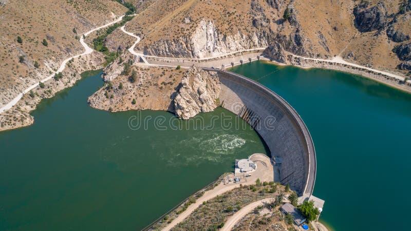 Arrowrock-Verdammung in Idaho und in ihr ist vom Wasser voll lizenzfreie stockbilder
