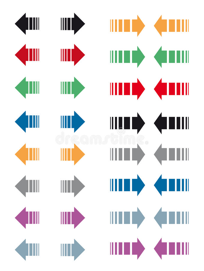 Arrows. Vector set of different and colorful arrows. Eps file available
