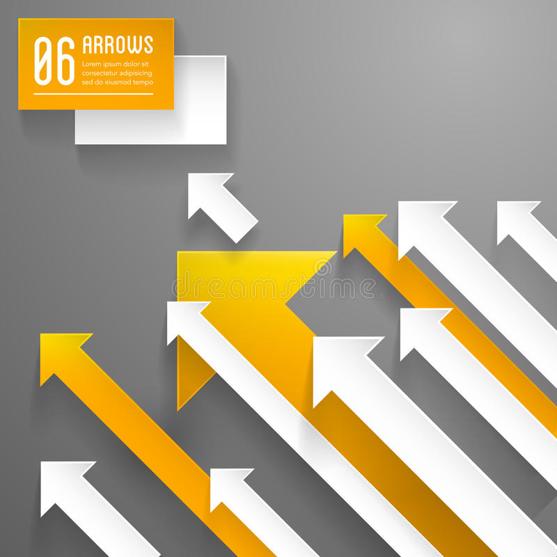 Arrows background - graphic design template royalty free illustration